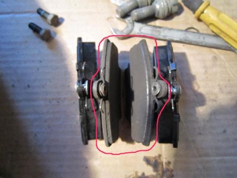 колодки тормозные передние рено логан