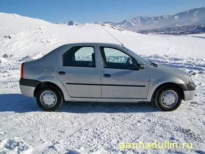 renault logan фотография Как утеплить двигатель автомобиля зимой
