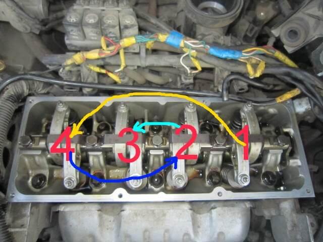 Последовательность регулировки клапанов Renault Logan