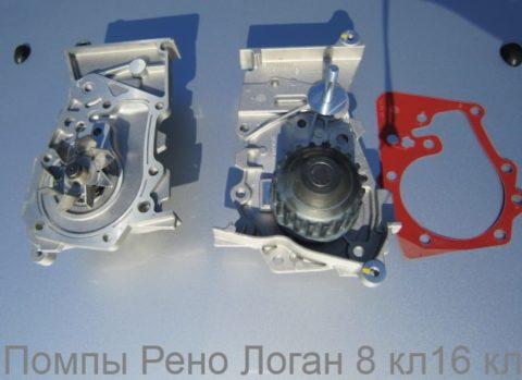 Pump Renault Logan e1509607436756 Помпа автомобильная с 8 ми и 16 клапанным двигателем