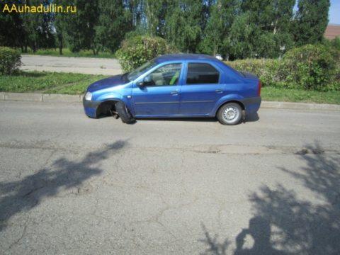 Фото 3 вырвало шаровой шарнир Renault Logan