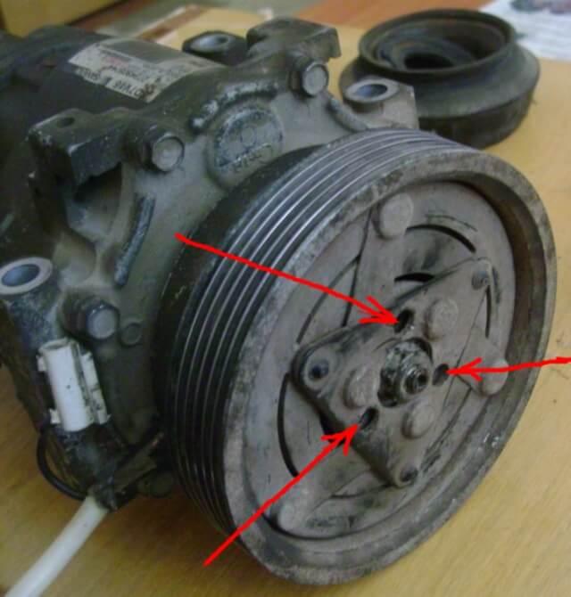 the compressor pulley Замена подшипника компрессора кондиционера