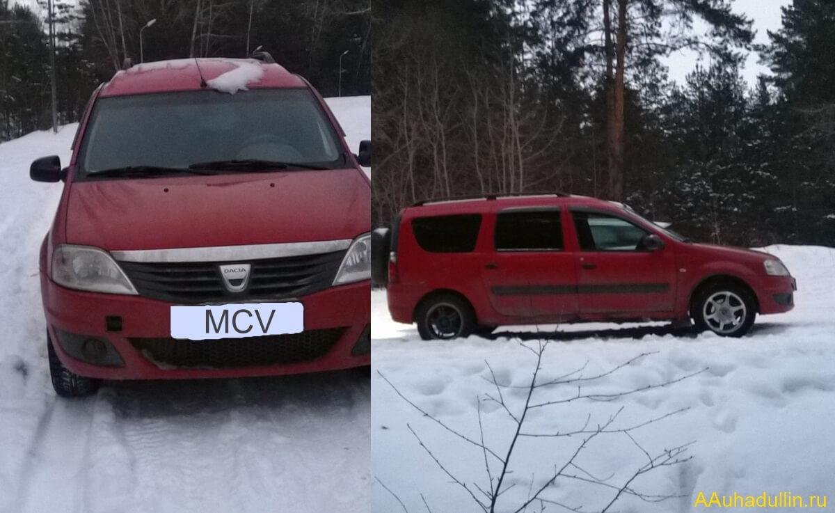 Фото MCV Logan зимой в лесу на сайте aauhadullin.ru
