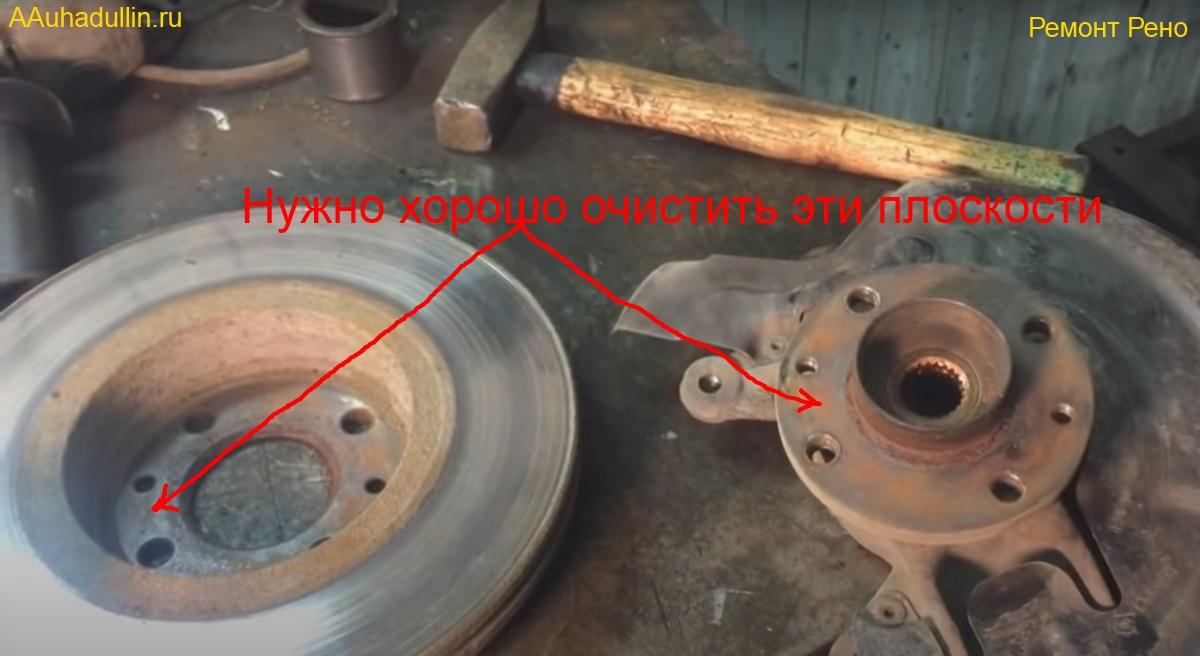 тормозной диска и ступица Renault Megan 2